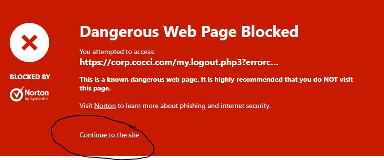 Unblock a Website | Norton Community