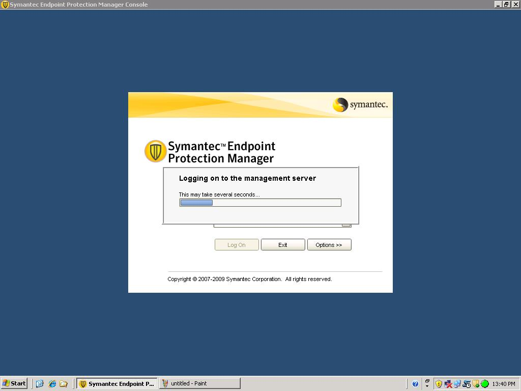 Can not login to Symantec Endpoint Protection Manager