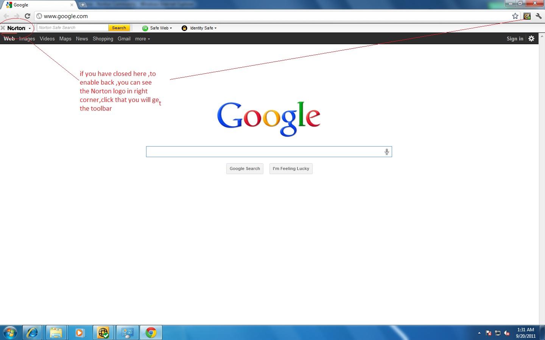 NIS 2012 toolbar with Google Chrome | Norton Community
