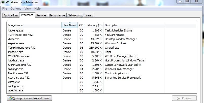 temp:winupd exe file high cpu usage  HELP!!   Norton Community