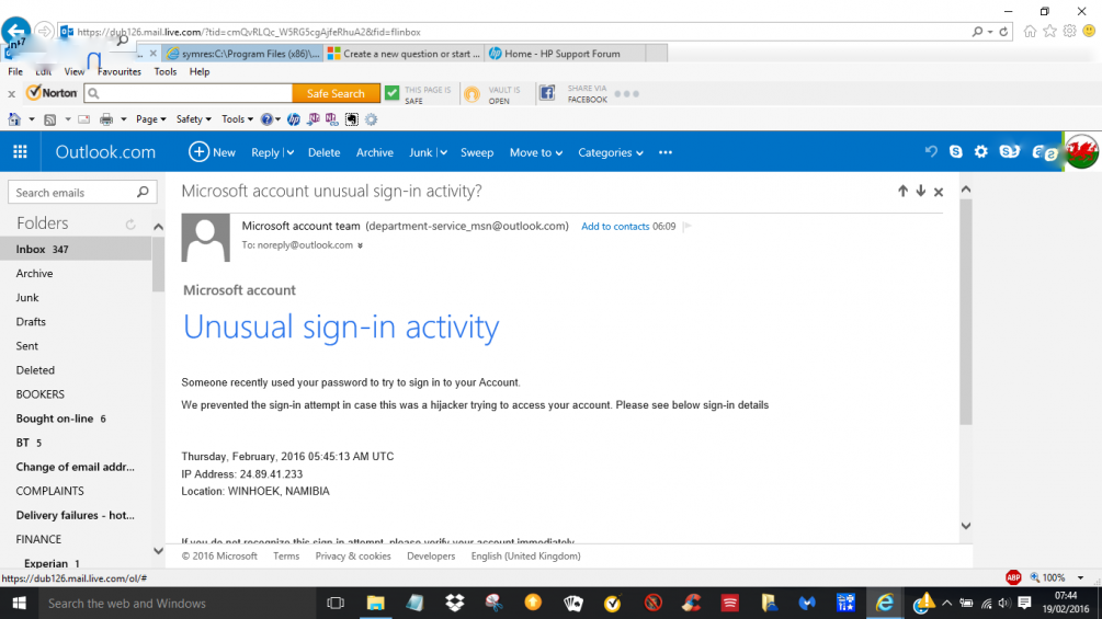 hotmail login english email account
