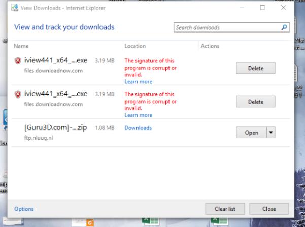 Irfanview - Microsoft frightening Windows 10 users not to