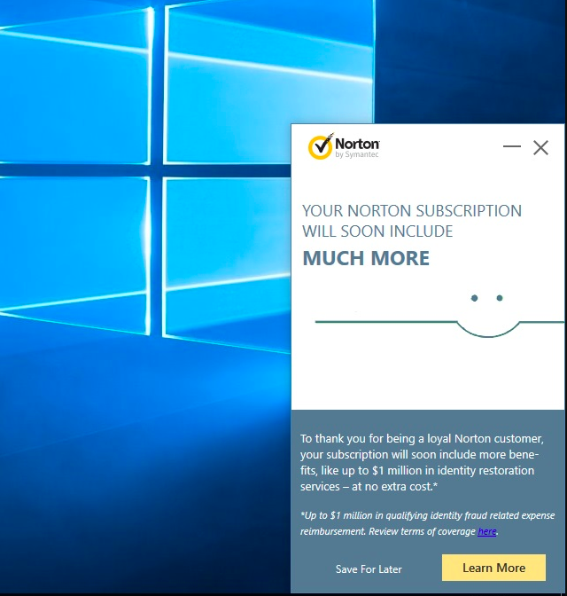 Disable Pop Up Tray Marketing notifications | Norton Community