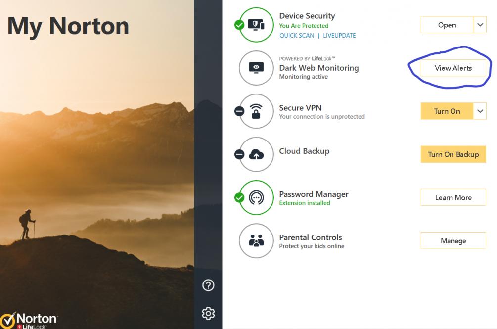How to disable Dark Web Monitor? | Norton Community