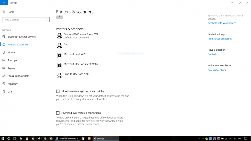 Scan from printer to network folder doesn't work  Firewall