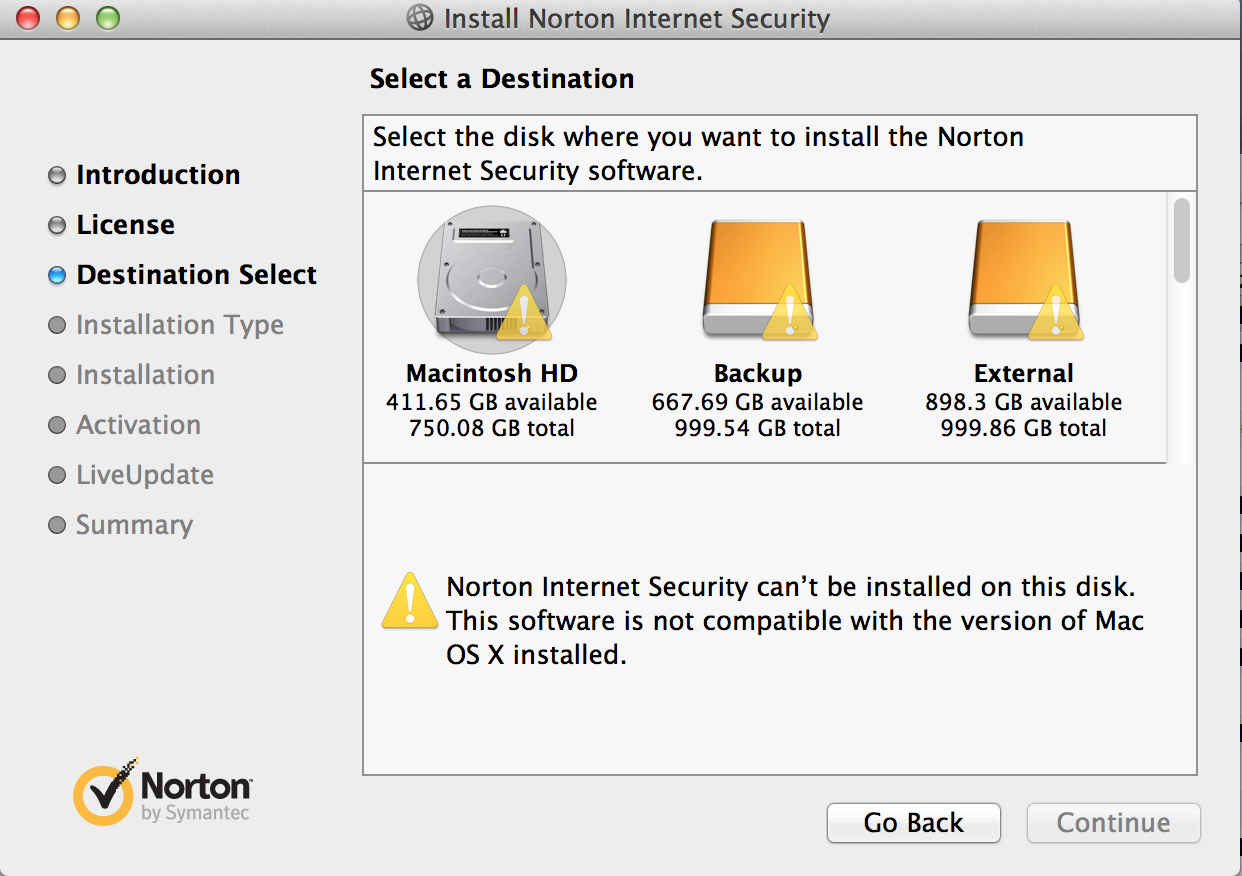 Norton Security Standard for Mac