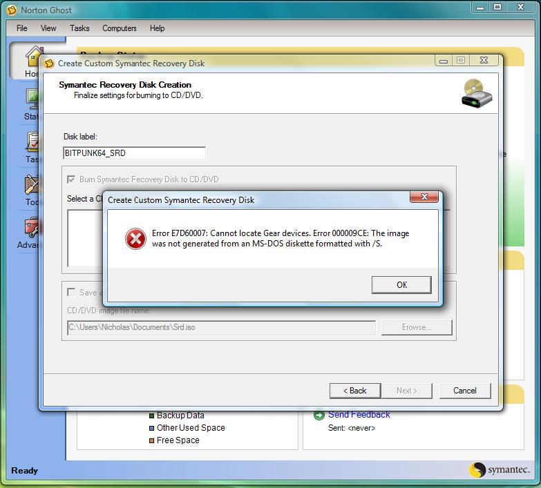 Symantec Norton Ghost 15.2010 Pcos