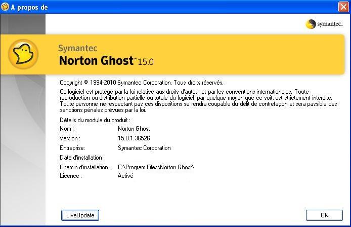 Norton Ghost Программное обеспечение для