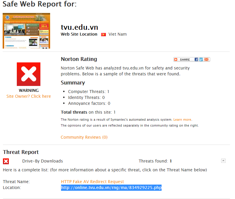 How to solve HTTP Fake AV Redirect Request | Norton Community