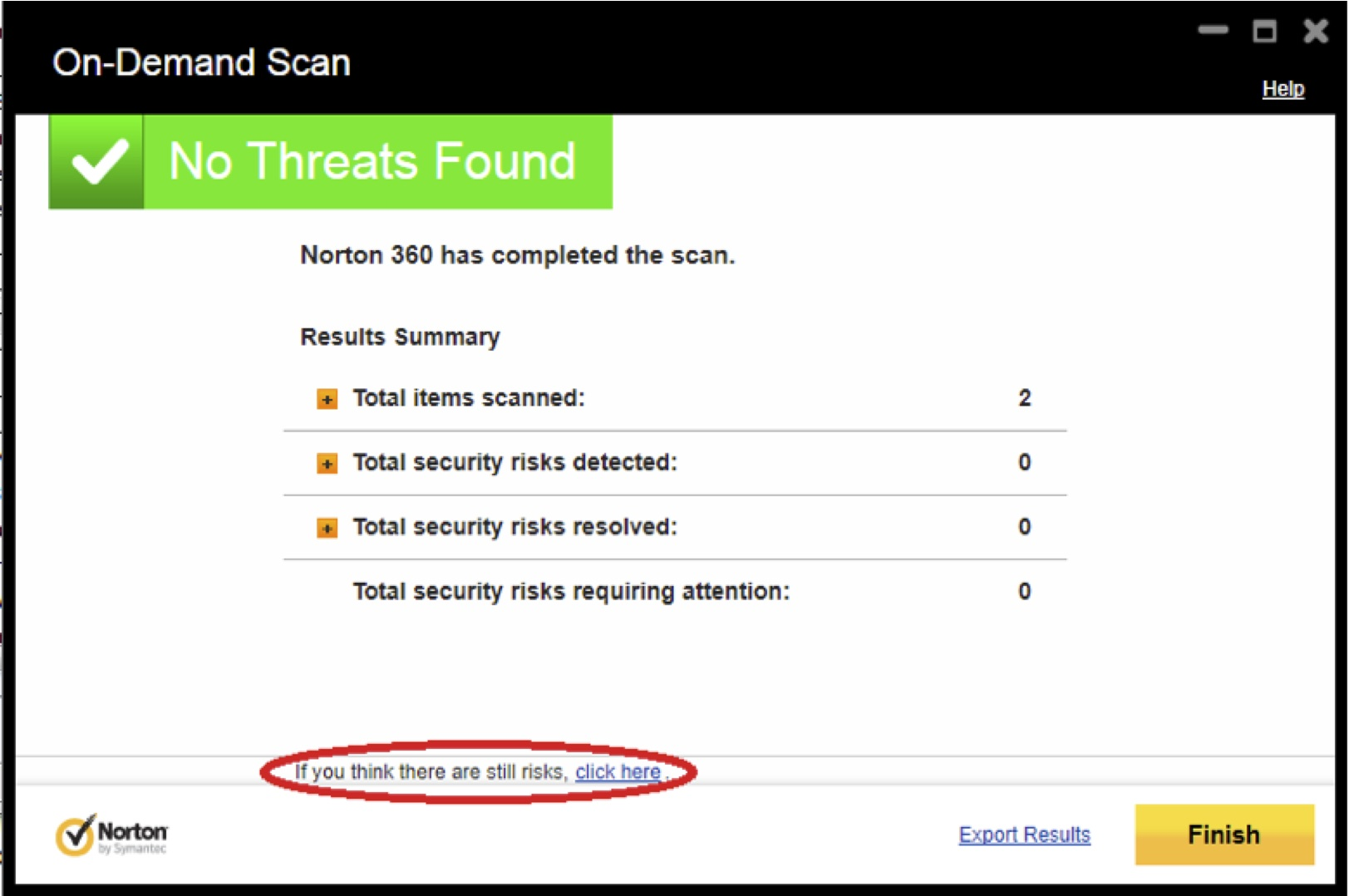 Norton Online Antivirus Scan