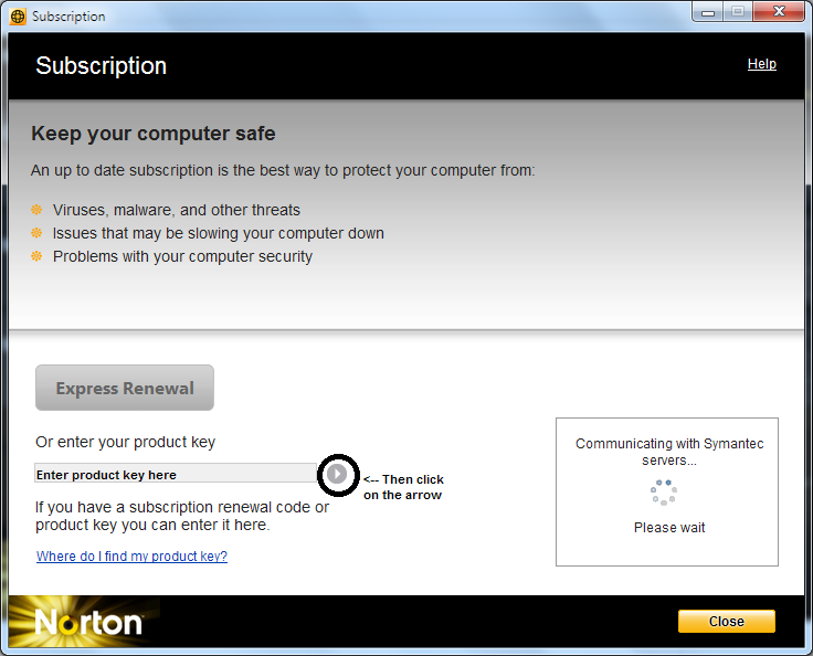 norton antivirus security key
